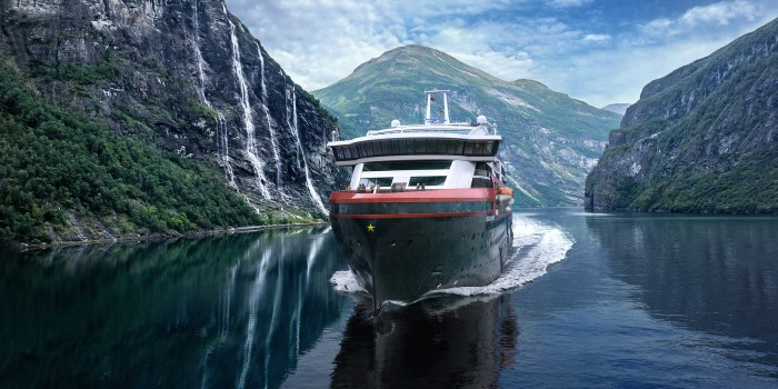 Sail with MS Roald Amundsen through famous fjords and spectacular Norwegian landscape.