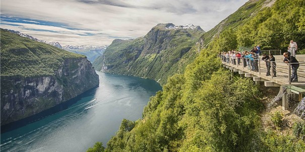 Sail with Hurtigruten in the summer months (Jun-Aug) and experience the stunning Geirangerfjord up close.