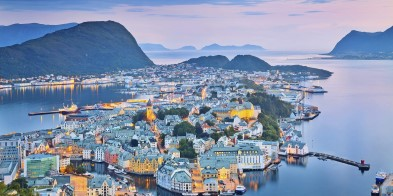 Beautiful Ålesund, one of the most picturesque cities in Norway.